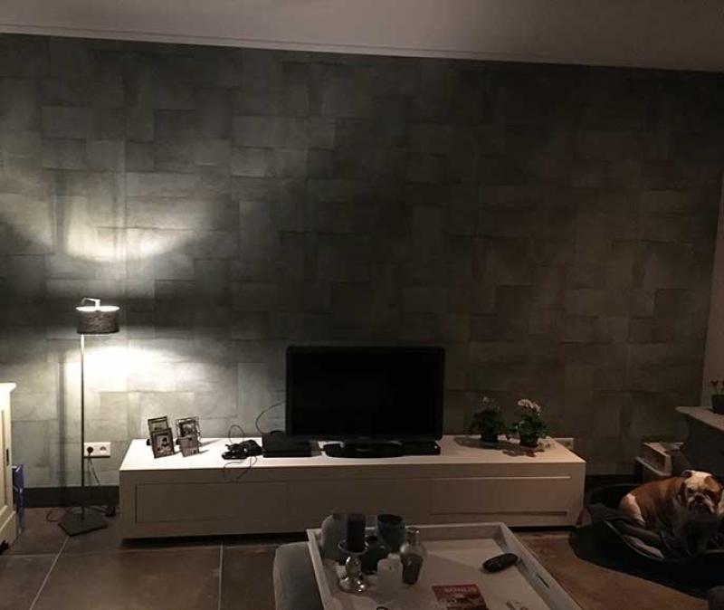 mink-schilderwerken-behang-woonlkamer