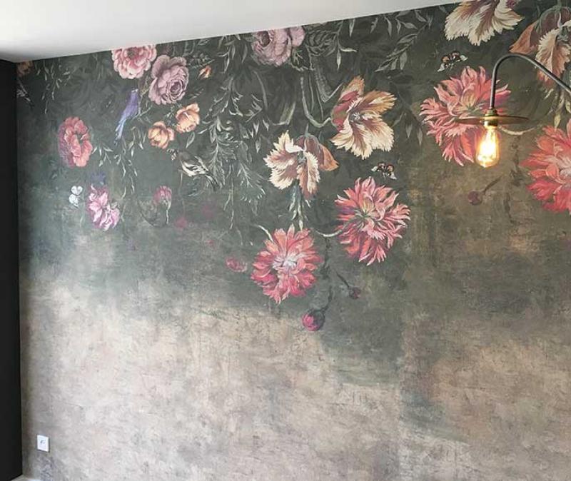 mink-schilderwerken-behang-bloem